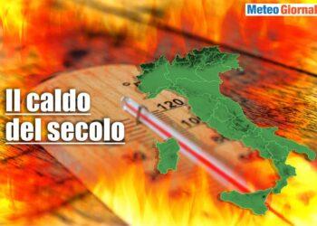 meteo con il caldo del secolo