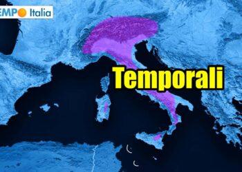 meteo con rischio temporali
