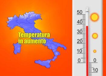 meteo domani caldo in aumento