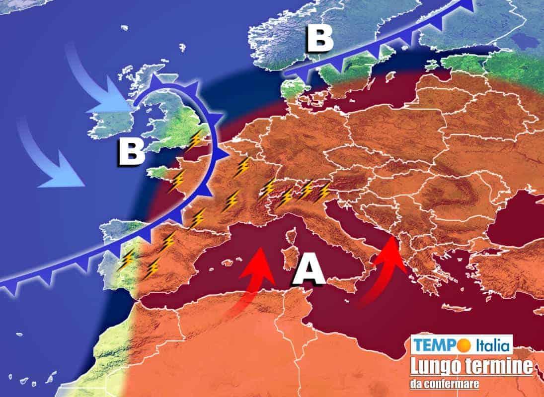 meteo lungo termine 5 - Meteo Italia al 29 Giugno: forte CALDO persistente in attesa dello STOP
