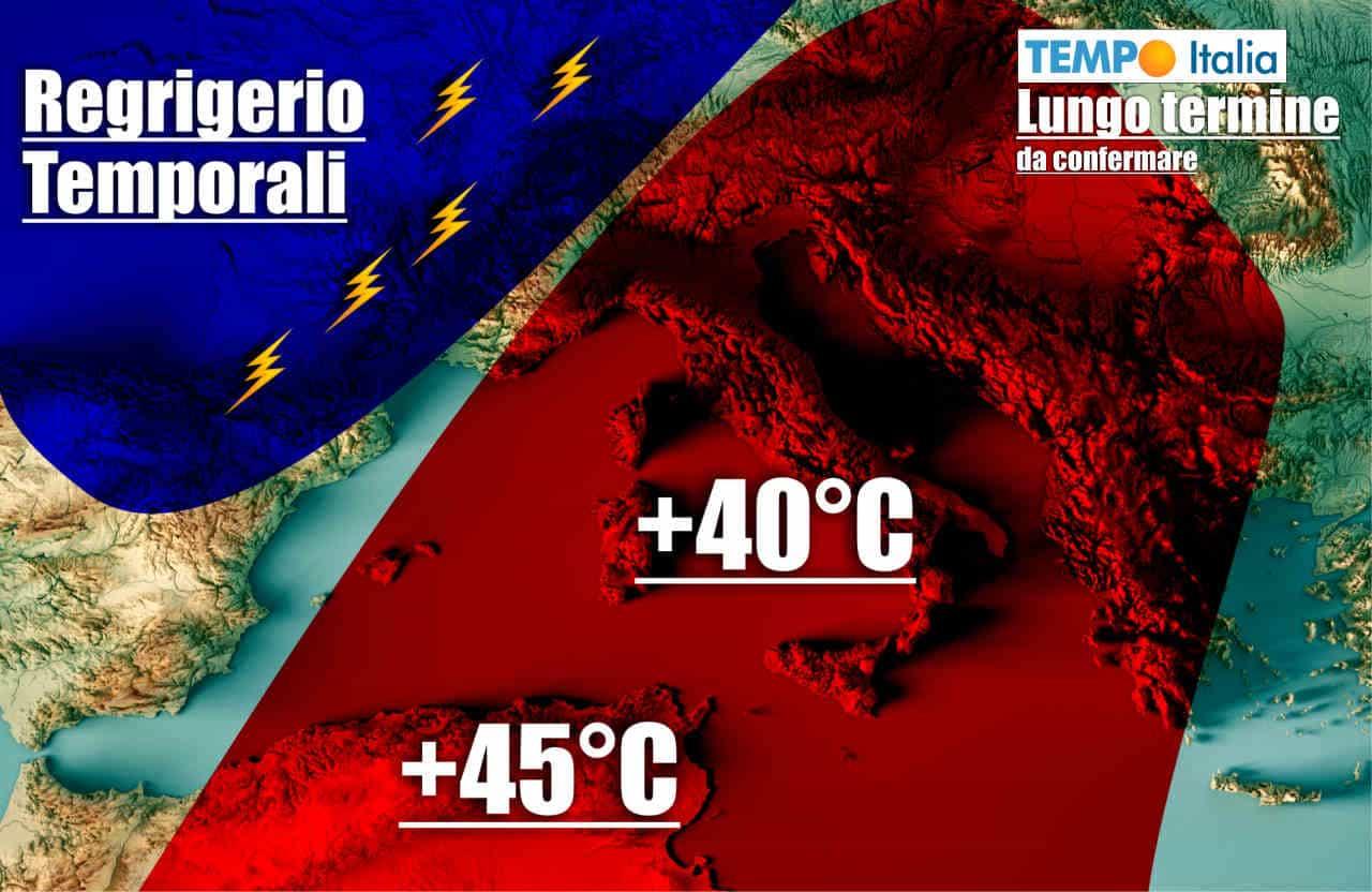 meteo lungo termine 6 - Meteo Lungo Termine, al 1° Luglio: CALDO esagerato su ITALIA, ma seguono temporali