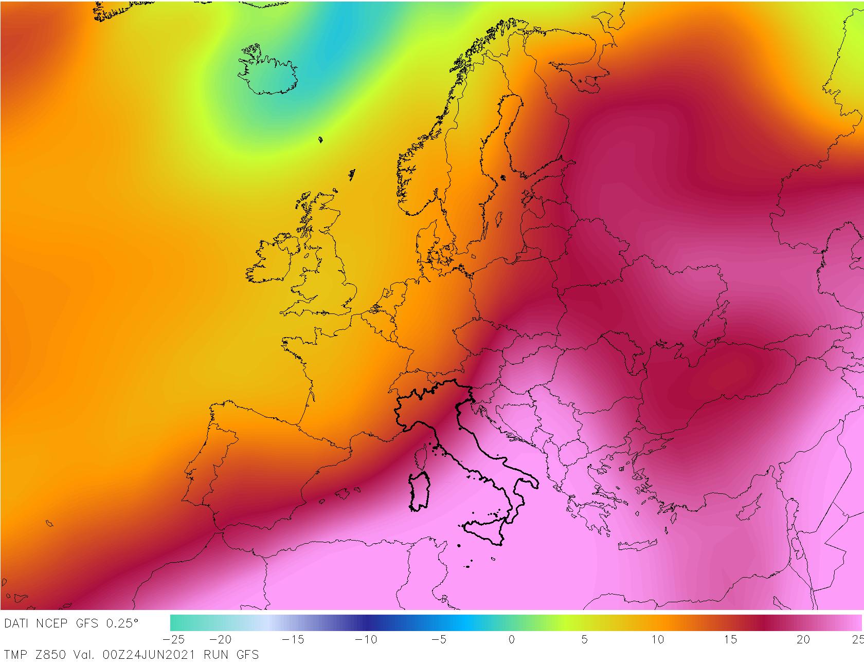 t850 120 - METEO , è come fossimo ai TROPICI in Italia, mappe. Il perché dei TEMPORALI