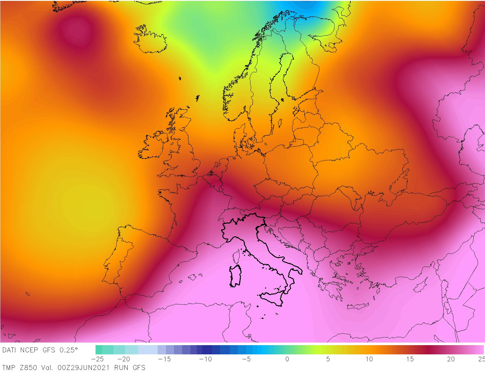 t850 240 - METEO , è come fossimo ai TROPICI in Italia, mappe. Il perché dei TEMPORALI