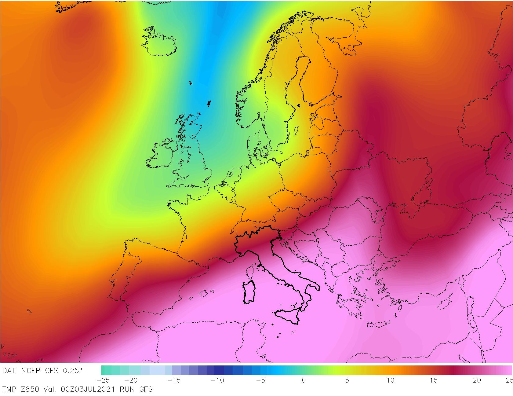 t850 336 - METEO , è come fossimo ai TROPICI in Italia, mappe. Il perché dei TEMPORALI