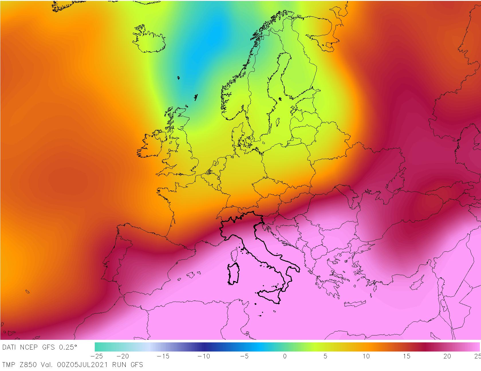 t850 384 - METEO , è come fossimo ai TROPICI in Italia, mappe. Il perché dei TEMPORALI