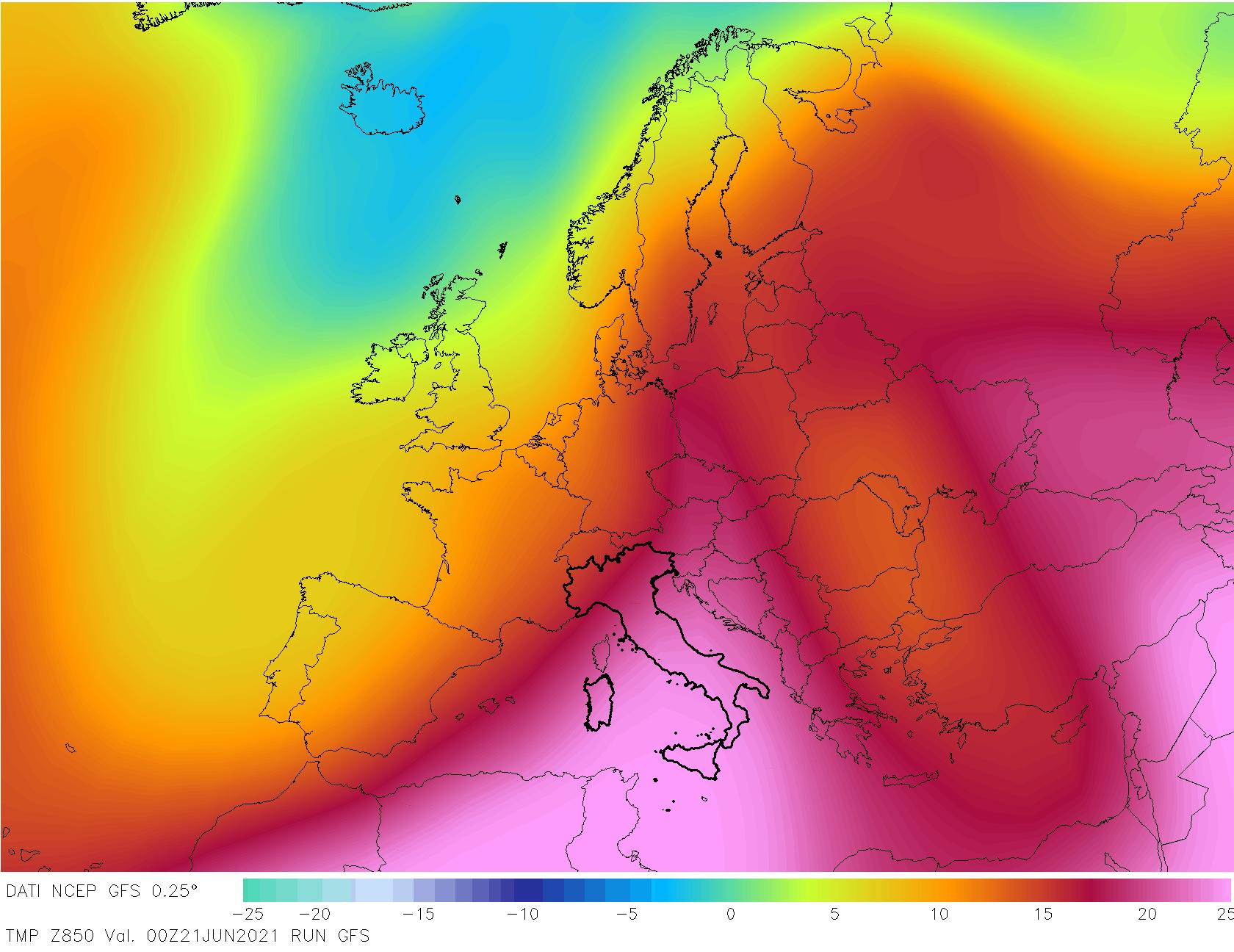 t850 48 - METEO , è come fossimo ai TROPICI in Italia, mappe. Il perché dei TEMPORALI