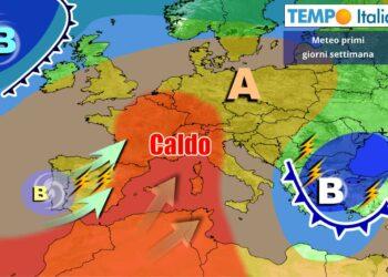 Caldo anticiclone sull'Italia