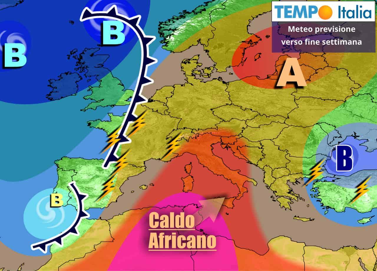 tempoitalia 7 giorni 13 - METEO Italia sino 20 Giugno. CALDO AFRICANO, ma anche locali TEMPORALI