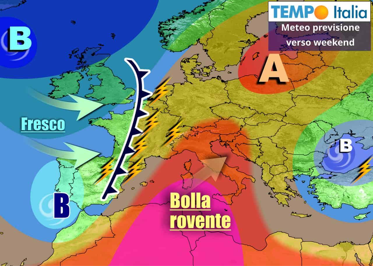 tempoitalia 7 giorni 14 - METEO Italia prossimi giorni: verso il FORTE CALDO, weekend rovente. Poi Temporali