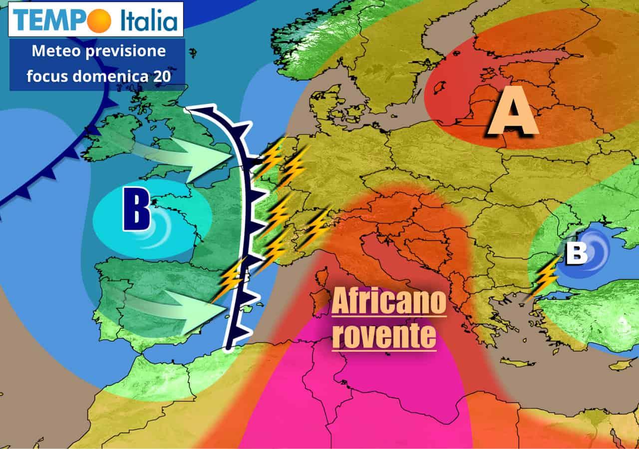tempoitalia 7 giorni 15 - METEO Italia sino 22 Giugno. CALDO INTENSO, poi spazzato via da TEMPORALI