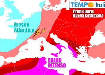 Contrasti esplosivi sull'Italia, tra temporali e caldo mostruoso