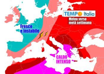 Eccessi di caldo sull'Italia del Sud, ma temporali penalizzeranno parte del Nord