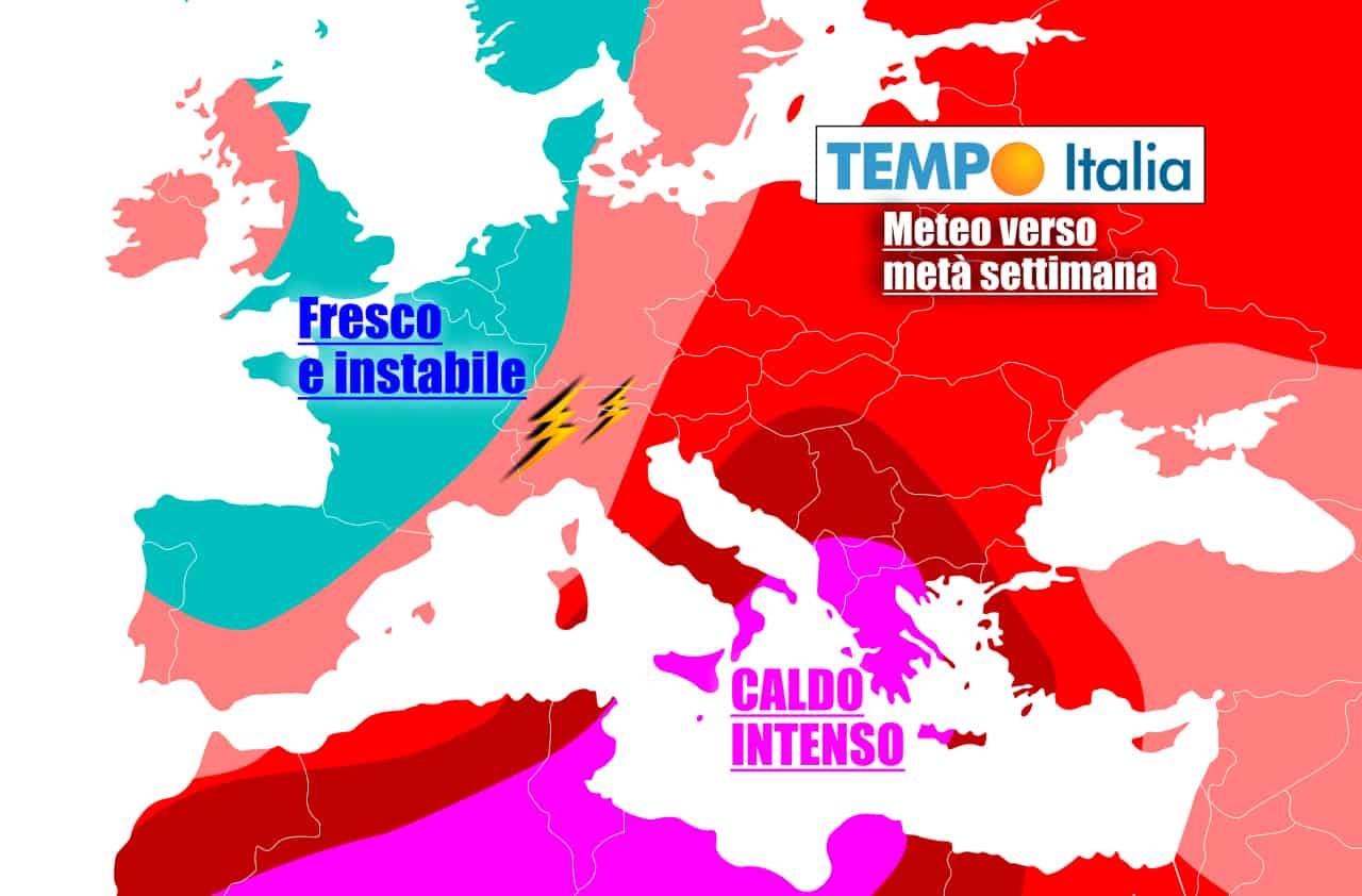 tempoitalia 7 giorni 19 - METEO Italia al 26 Giugno. CALDO ESAGERATO, attenzione ai TEMPORALI al Nord