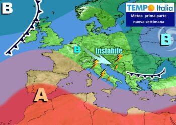 Lo scenario atteso in Europa nei primi giorni della prossima settimana