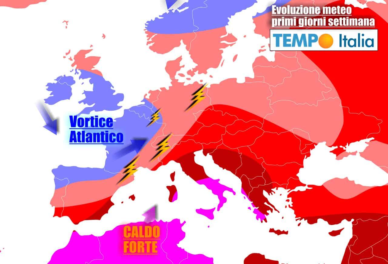 Italia contesa tra caldo e temporali