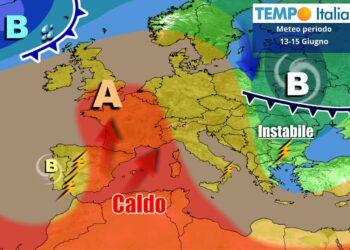 Caldo estivo in accentuazione sull'Italia, per l'anticiclone in rinforzo