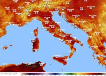 Termometri sopra i 40 gradi in qualche località