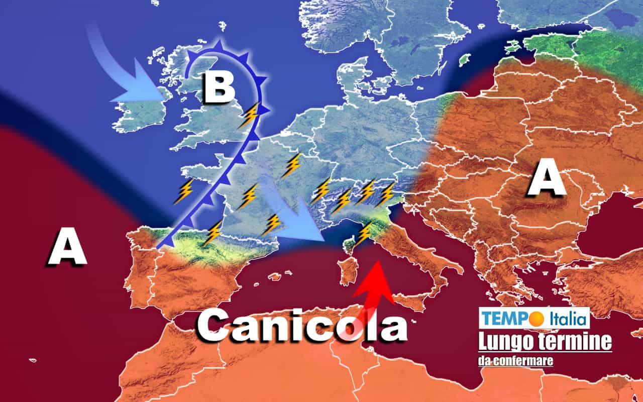 lungo termine ti 11 - Meteo Italia al 4 agosto: bolla d'aria ROVENTE, ma a rischio stop