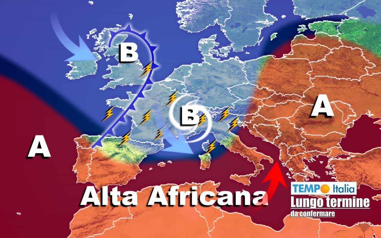 lungo termine ti 12 - Meteo Italia al 5 agosto: fasi di CALDO rovente e RINFRESCATE