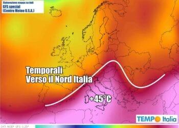 meteo con ondata di calore