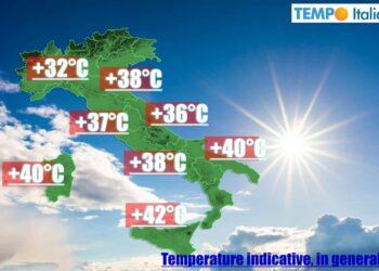 ondata di calore in Italia