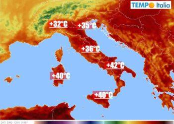 temperature italia sotto ondata di calore