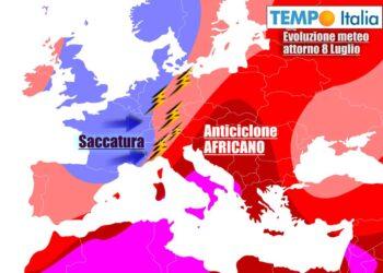 Dopo l'anticiclone africano, incombono temporali sul Nord Italia
