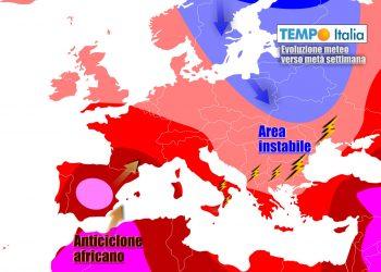 Anticiclone e caldo torneranno a prevalere sull'Italia