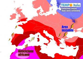 Caldo africano punta di nuovo l'Italia