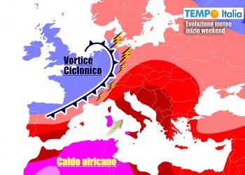 Italia divisa in due nei prossimi giorni