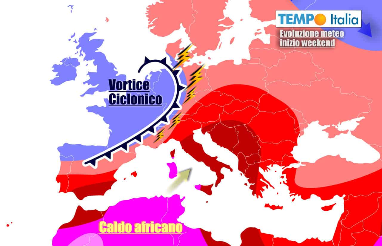 tempoitalia previsioni 7 giorni 17 - METEO sino 26 luglio. Scoppia il CALDO AFRICANO, forti TEMPORALI in arrivo