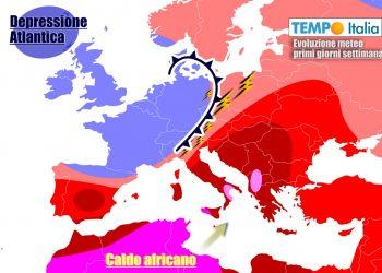 Mix di grande caldo e temporali
