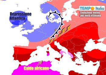 Italia ancora sotto torchio del caldo africano