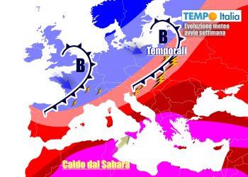 Italia ancora divisa in due ad inizio agosto