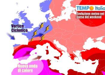 La bolla di caldo lascerà solo temporaneamente l'Italia