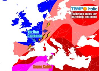 Nuovi contrasti termici esplosivi sull'Italia nei primi giorni della settimana