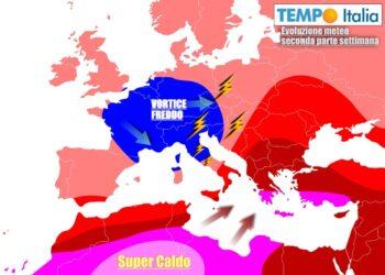 Italia alle prese con un vortice instabile per molti giorni