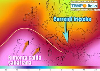 Il caldo potrebbe tornare nella terza decade d'agosto