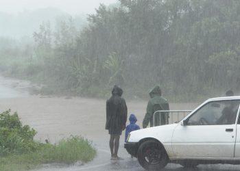 Allagamento dopo violente piogge.