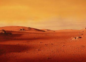 Paesaggi marziani in parte d'Italia, sotto la cappa di sabbia del Sahara.