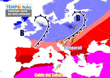 Italia crocevia di masse d'aria diverse