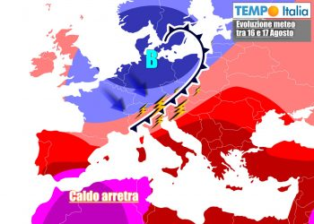 Clima più fresco e temporali ad inizio settimana