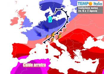 Aria più fresca affluirà sull'Italia i prossimi giorni