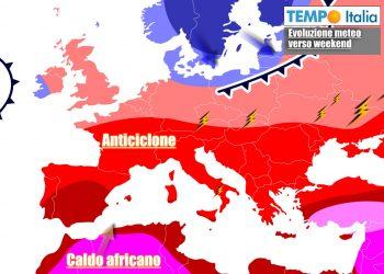 Caldo di nuovo in aumento sull'Italia