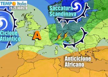 Nuovo refrigerio e temporali all'inizio della prossima settimana