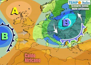 Meteo prossima settimana avviato a graduale miglioramento e rialzo termico