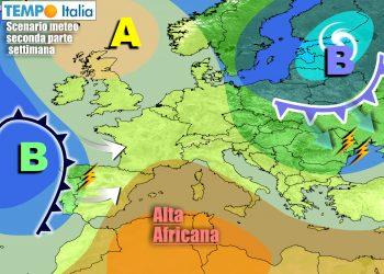 """Italia più protetta da anticiclone, ma tra due """"fuochi"""" nella prossima settimana"""