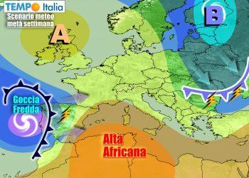 Non durerà a lungo la tregua anticiclonica sull'Italia
