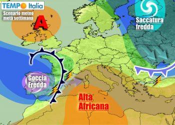 Dopo un intermezzo anticiclonico, nuove perturbazioni raggiungeranno l'Italia