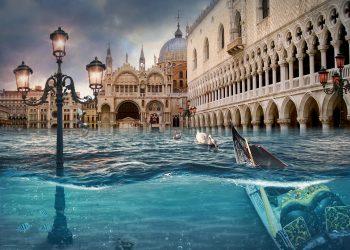 Con l'Autunno, non manca l'acqua alta nella Laguna Veneta e a Venezia.